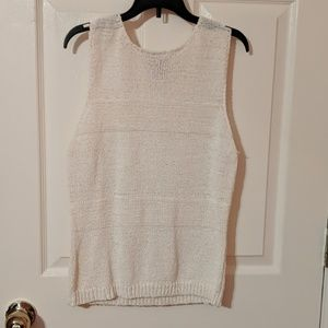 Milano Tank/Shell Large Knitted Cream